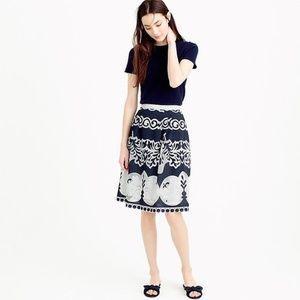 Jcrews midi skirt in ornate lace -Petite